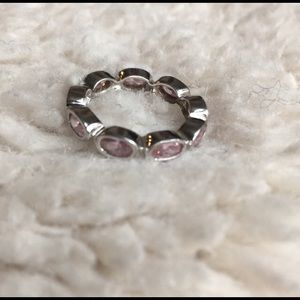 Jewelry - 📦Pink Quartz Sterling Infinity Band Size 6